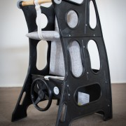Hokus Pokus High Chair - Black/Ash Grey - High Chair Rocker Table - Hokus Pokus - 3 in 1 Highchair -