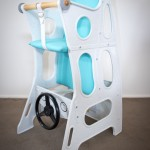 Hokus Pokus High Chair - Marble/Turquoise - High Chair Rocker Table - Hokus Pokus - 3 in 1 Highchair -