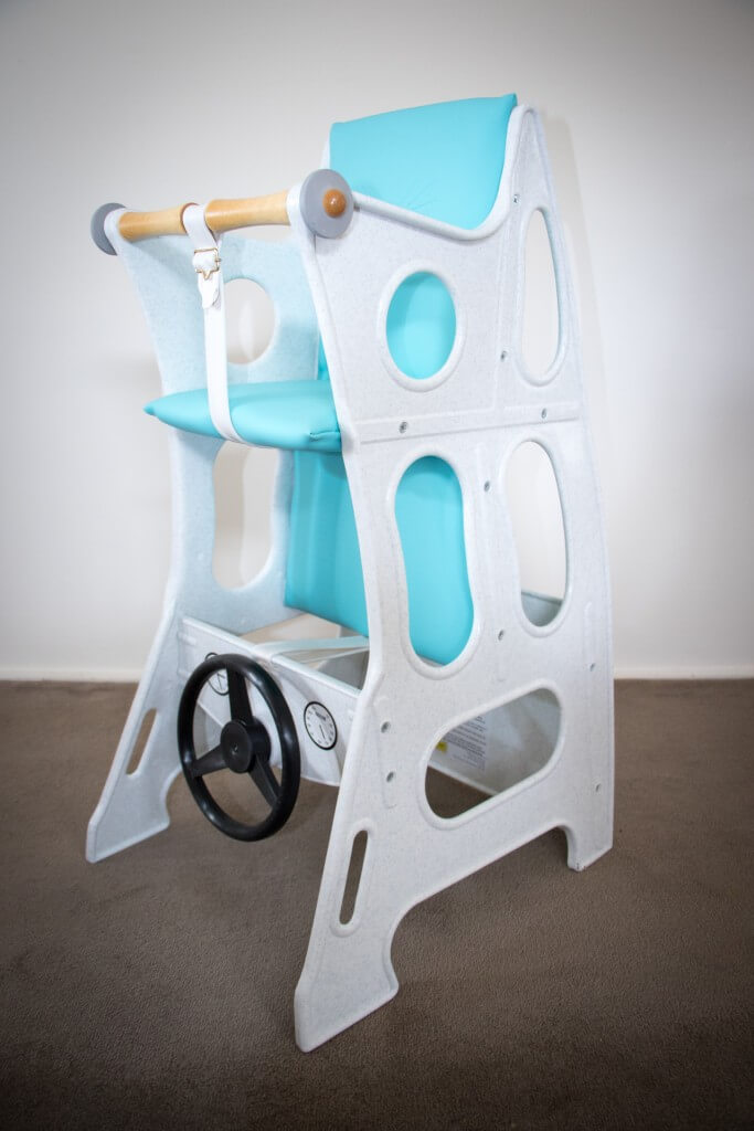 Hokus Pokus High Chair – Marble/Turquoise